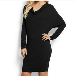 Tommy Bahama | black Tambour cowl neck dress